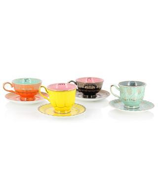 Set de quatre tasses à thé déparaillées Grandpa POLS POTTEN