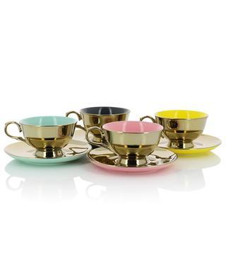 Set mit vier Tassen Legacy Gold POLS POTTEN