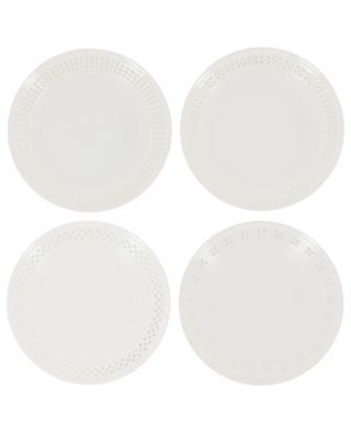 Set mit 4 Desserttellern Pierced POLS POTTEN
