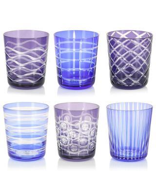Set mit 6 Gläsern Cobalt Tumbler POLS POTTEN