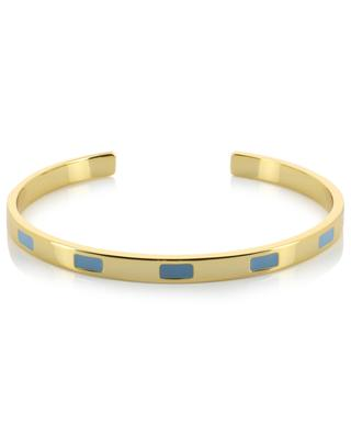 Goldener Armreif mit Email Tempo Bleu Glacier BANGLE UP
