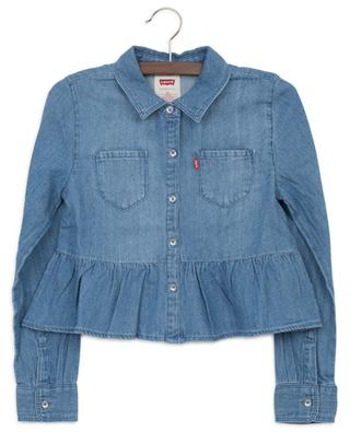 Ruffled cropped denim shirt LEVI'S KIDS