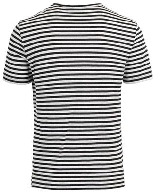 T-shirt rayé en lin et coton PPM DNM urban garment PAOLO PECORA