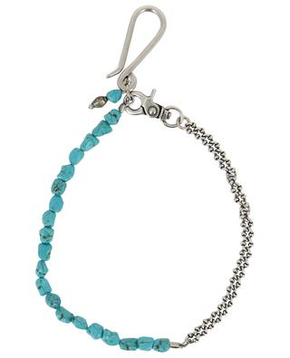 Metal and turquoise keychain ANDREA D'AMICO