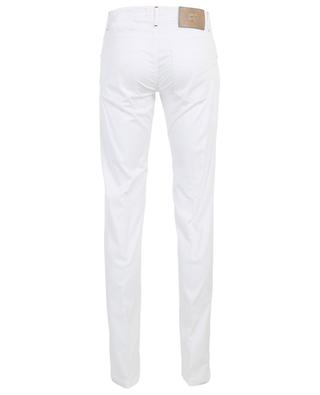 Pantalon slim en coton et soie mélangés Nerano MARCO PESCAROLO