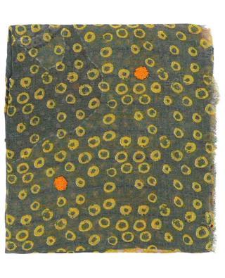 Étole en lin à franges avec broderies en coton Doris STORIATIPIC