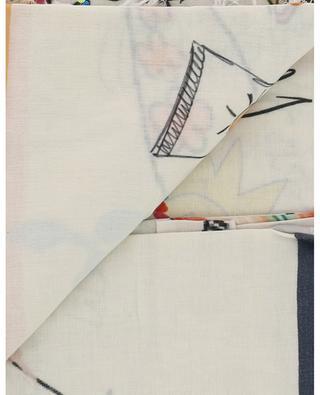 Glitzerndes Halstuch aus Baumwolle und Seide mit Fransen Maggie STORIATIPIC
