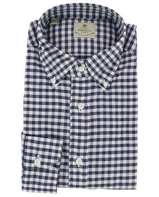 Kariertes Hemd aus Baumwolle und Leinen LUIGI BORRELLI