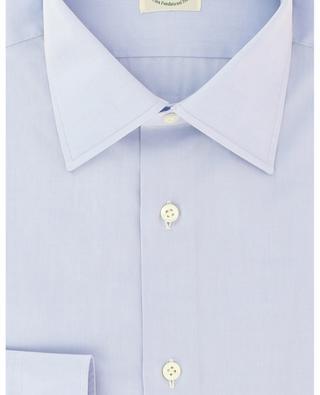 Klassisches Hemd aus texturierter Baumwolle mit langen Ärmeln LUIGI BORRELLI