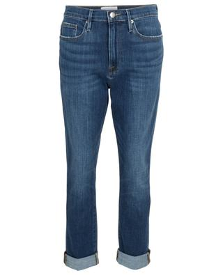 Boyfriend-Jeans im Used-Look Le Beau Burnside FRAME