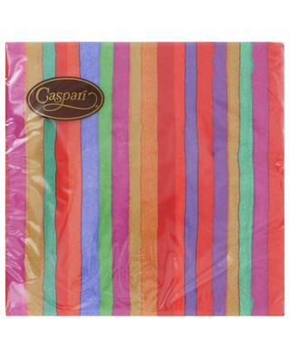 Balthazar Stripe Luncheon paper table napkins CASPARI