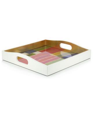 Papiers Plissé lacquered wood square tray CASPARI