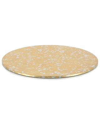 Laquered wood golden placemat CASPARI