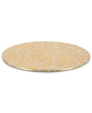 Laquered wood golden placemat CASPARI
