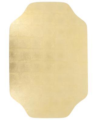Golden lacquered wood placemat CASPARI