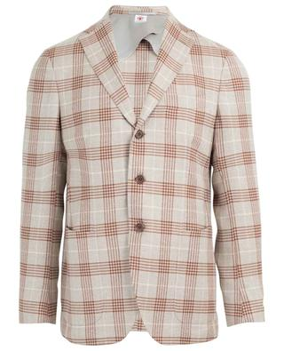 Virgin wool and silk check blazer LUIGI BORRELLI