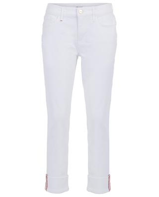 Le Nik Blanc straight fit low rise jeans with turn-ups FRAME