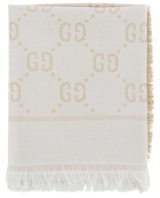 Wendbares Tuch aus Baumwolle, Wolle und Seide GG GUCCI