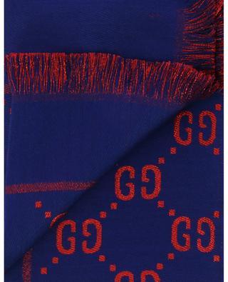 Foulard fin réversible en coton, laine et soie motif GG GUCCI
