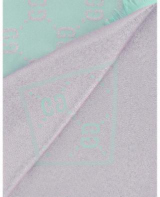 GG motif reversible cotton, wool and silk shawl GUCCI