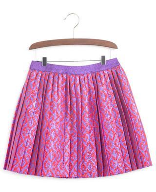 G Rhombus Lamé short pleated skirt GUCCI