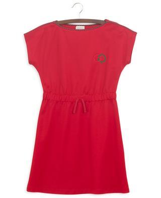 Interlocking G embroidered technical jersey dress GUCCI