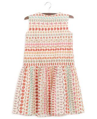 Sleeveless floral poplin dress with jabot collar GUCCI