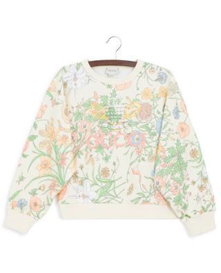 Sweat-shirt en coton imprimé Flora GUCCI