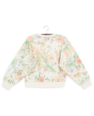 Flora print cotton sweatshirt GUCCI