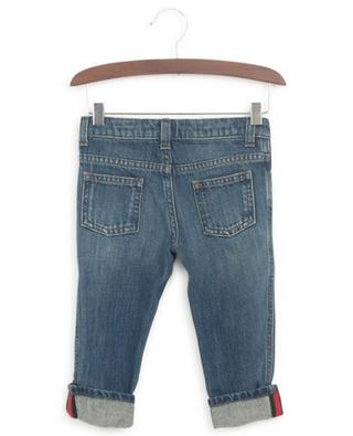 Faded baby jeans with Web detail GUCCI