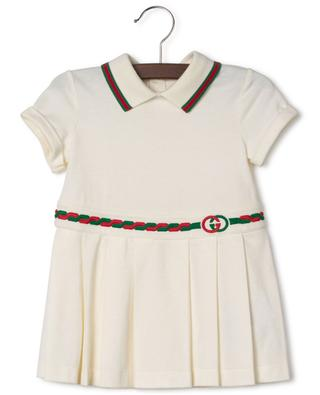 Robe en coton piqué brodée Interlocking G GUCCI