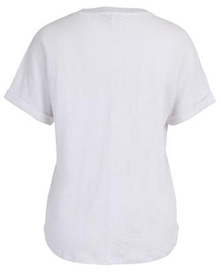 Linen jersey round neck T-shirt with Lurex BONGENIE GRIEDER
