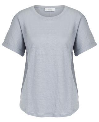 T-shirt en jersey de lin à col rond embelli de lurex BONGENIE GRIEDER