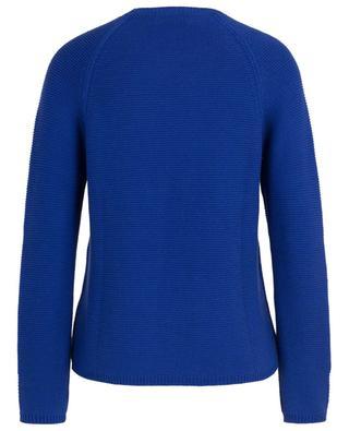 Garter stitch cotton jumper with raglan sleeves BONGENIE GRIEDER