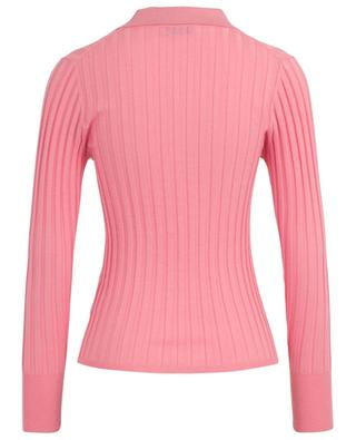 Rib knit long-sleeved fitted polo shirt BONGENIE GRIEDER