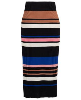 Midi-length striped rib knit skirt BONGENIE GRIEDER