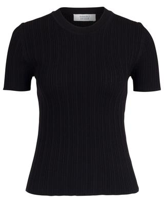 Finely ribbed short-sleeved sheath jumper BONGENIE GRIEDER