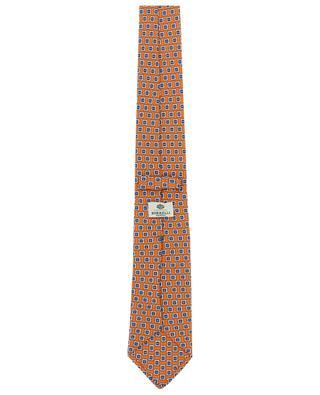 Cravate fleurie en sergé de soie LUIGI BORRELLI