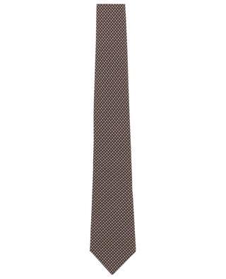 Cravate imprimée de minuscules fleurs LUIGI BORRELLI