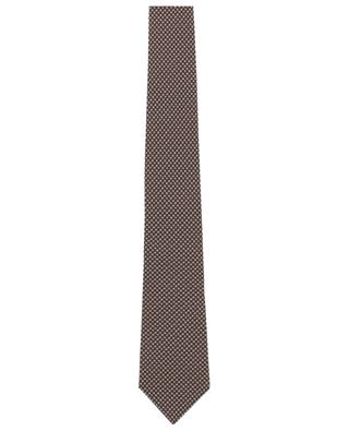 Krawatte mit winzigem Blütenprint LUIGI BORRELLI