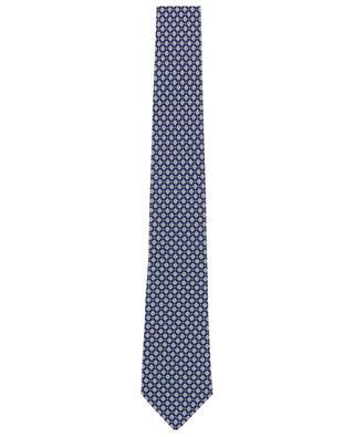 Floral and dot printed silk tie LUIGI BORRELLI