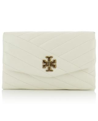 Kira Chevron quilted leather wallet bag TORY BURCH