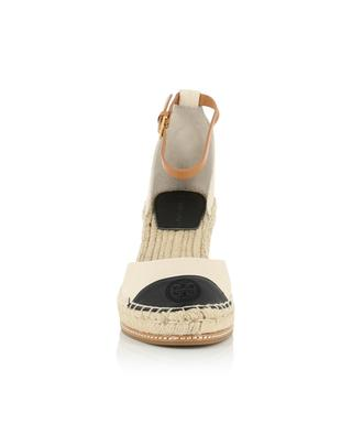 Color Block 85 canvas and leather wedge espadrilles TORY BURCH
