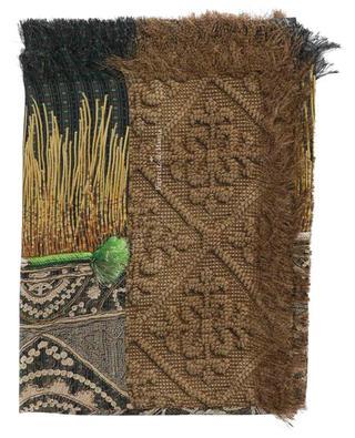 Étole en sergé de soie imprimée patchwork Aloeuw PIERRE LOUIS MASCIA