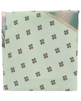 Foulard en forme de losange imprimé patchwork Aloeuw PIERRE LOUIS MASCIA