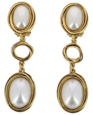 Clips d'oreilles plaqués or avec pierres FAST 6-D POGGI