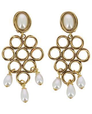 Boucles d'oreilles clips avec perles POGGI