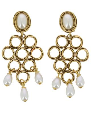 Clip earrings with pearls POGGI