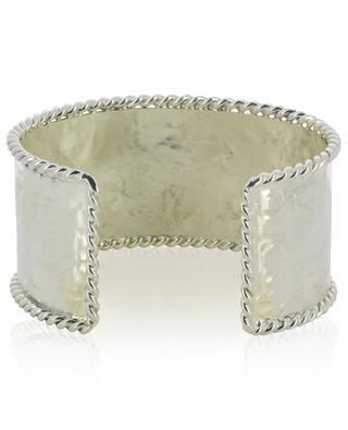 B 161 large textured silver cuff POGGI