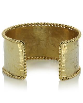 B 161 large textured golden cuff POGGI